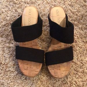 Sole Society wedge sandal size 5.5